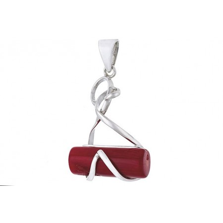 Sterling silver coral pendant