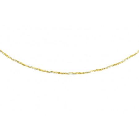 Łańcuszek srebrny pozłacany