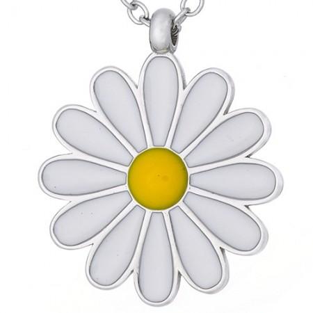 Naszyjnik srebrny kwiatek z...