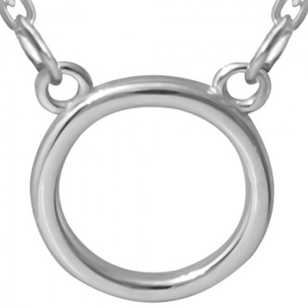 Naszyjnik ze srebra 925 celebrytka z kółkiem.