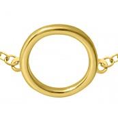 Bransoletka celebrytka ze srebra 925 pozłocona 24-karatowym złotem z elementem kółka.