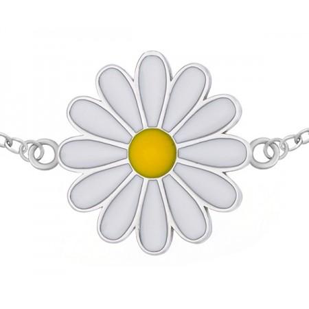 Bransoletka srebrna kwiatek...
