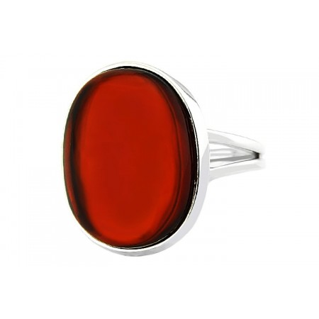 Sterling silver amber ring
