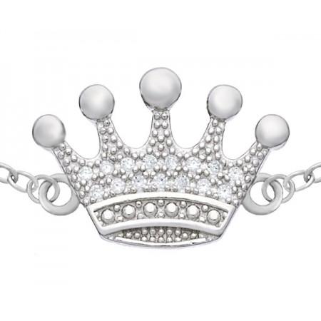 Bransoletka srebrna korona...