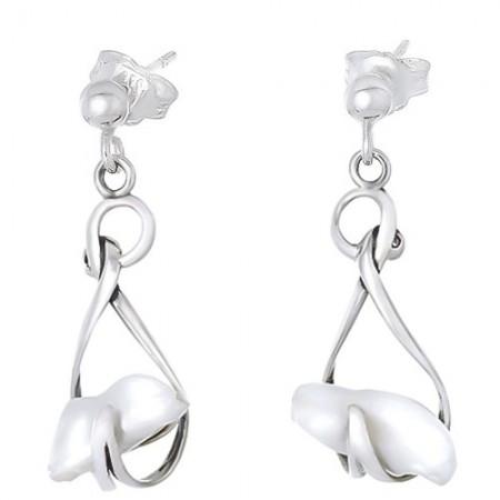 Kolczyki srebrne z perłą...