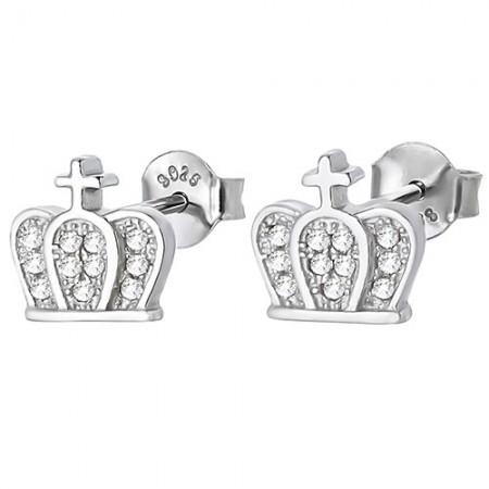 Kolczyki srebrne korony z...