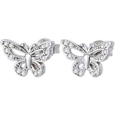 Kolczyki srebrne motylki z...