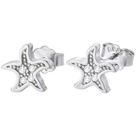 Piękne kolczyki rozgwiazdy na sztyft ze srebra próby 925 z cyrkoniami.
