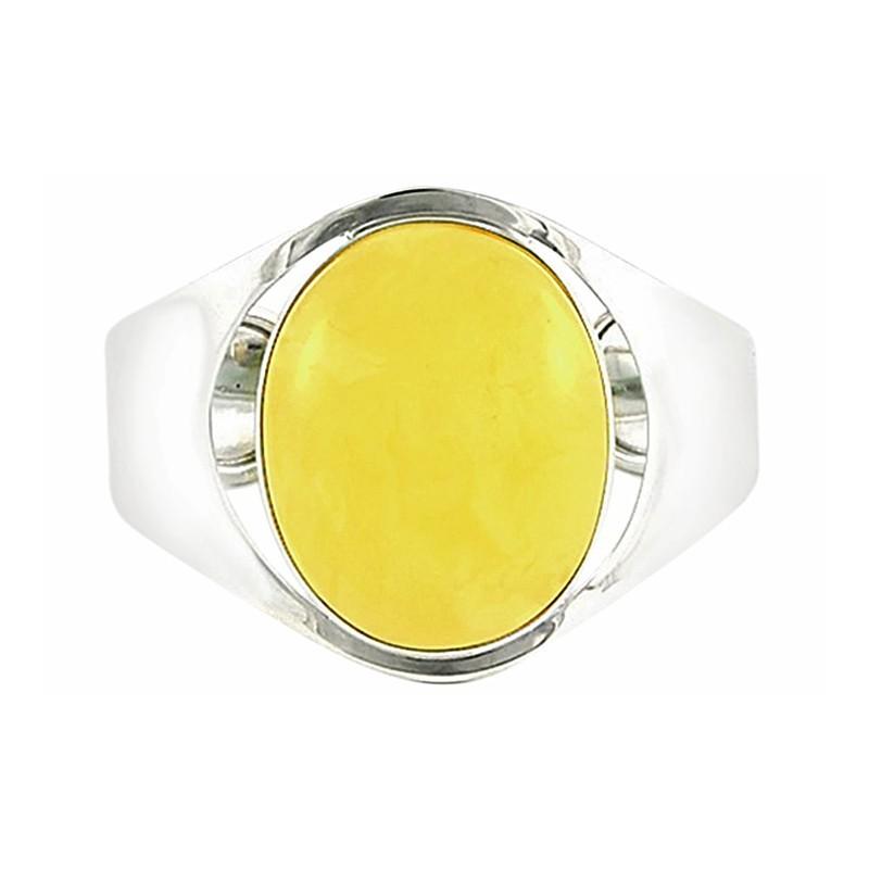 Unikatowa bransoleta ze srebra 925 zrobiona całkowicie ręcznie z wielkim mlecznym bursztynem.