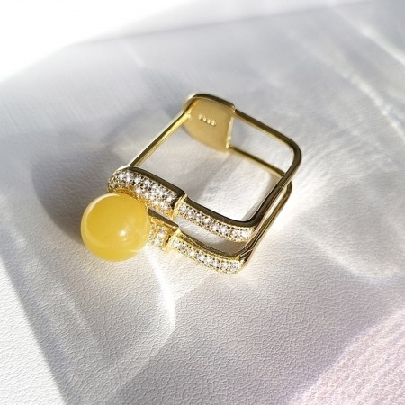 Sterling silver gold plated...